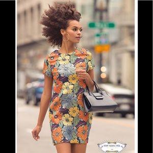 Amy Kuschel floral dress Sz 10